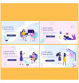 courses investor on landing page vector image vector image