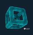 cube connection structure 3d grid design vector image
