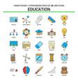 education flat line icon set - business concept vector image