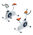 Exercise bike isolated on white background vector image vector image