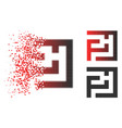 fragmented dot halftone labyrinth icon vector image vector image