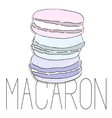 french macarons fashion art image vector image vector image