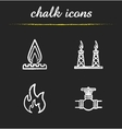 Gas industry chalk icons set vector image vector image