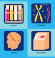 genetic research concept icons in flat style vector image vector image