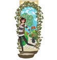 girl in secret garden vector image vector image