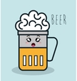 glass beer cartoon facial expression isolated icon vector image vector image