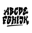 Graffiti style font type alphabet part 1 vector image vector image