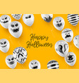 halloween banner template with white balloons