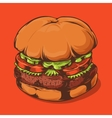 Hamburger Isolated on Orange Background vector image vector image