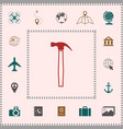 hammer icon symbol elements for your design vector image vector image