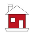 house real estate symbol vector image vector image