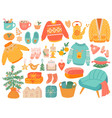hygge christmas winter knit clothes and holiday vector image