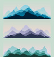 majestic mountains panorama background vector image