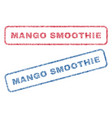 mango smoothie textile stamps vector image vector image