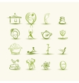 Massage and spa set of icons for your design vector image vector image