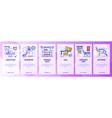 mobile app onboarding screens online marketing vector image vector image