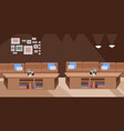 modern cafe empty no people restaurant with table vector image vector image