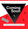 modern promotion square web banner coming soon vector image vector image