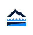 mountain lake landscaping creative business logo vector image vector image