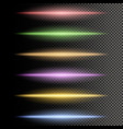 multicolor glowing particles light vector image