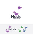 music castle logo vector image vector image
