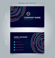 name card template abstract colorful lines bright vector image