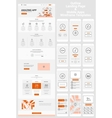 One Page Website and Mobile Apps Wireframe Kit vector image vector image