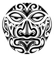 polynesian style mask tattoo vector image vector image