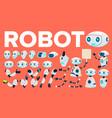 robot animation set futuristic technology vector image vector image