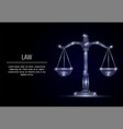 scales of justice geometric polygonal vector image vector image