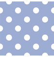 Seamless pattern white polka dots blue background vector image vector image