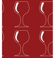 seamless pattern with red glass silhouettes vector image