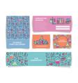 set chemistry for kids banner templates vector image