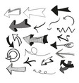 set hand style arrows simple vector image vector image