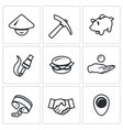 Set of Cheap Labor Icons Worker Tool vector image vector image