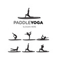 set paddle yoga vector image vector image