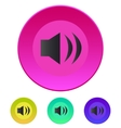 Speaker icon Volume max vector image vector image