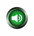 Speaker sound icon button isolated on green gloss vector image vector image