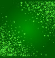 square saint patricks day background with clover vector image vector image