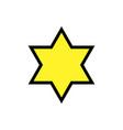 star of david - symbol of judaism vector image
