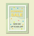 Summer sale banner template background