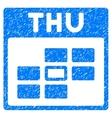 Thursday Calendar Grid Grainy Texture Icon vector image vector image
