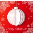 white origami paper christmas ball vector image