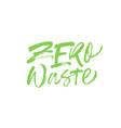 zero waste handwritten lettering vector image