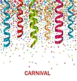 Carnival Background with Set Colorful Paper vector image