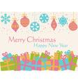 Christmas background - decorative balls and presen vector image