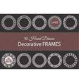 10 decorative hand drawn frames vector image vector image