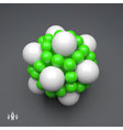 3D Molecule Structure Technology Style vector image vector image
