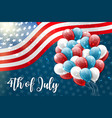 4th july united states independence day vector image vector image