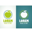 Apple Icon or Logo Template vector image vector image